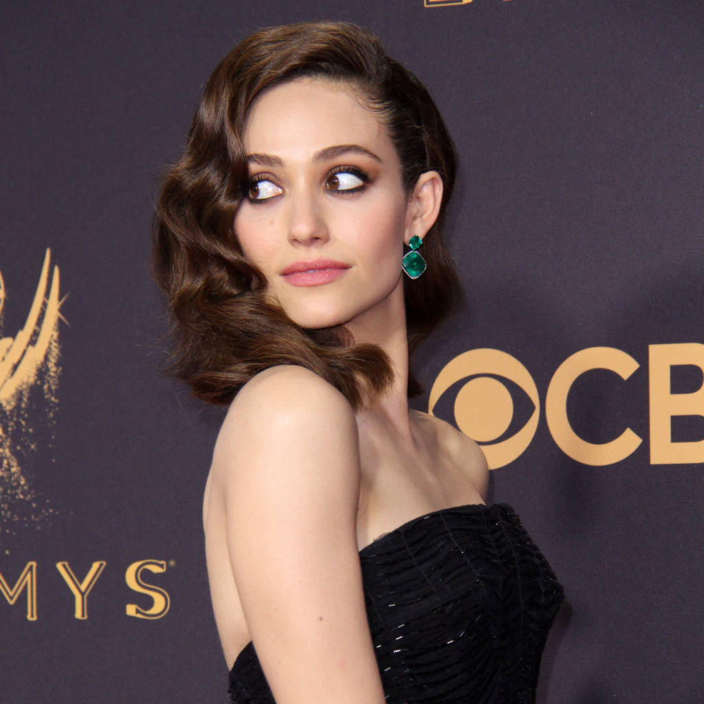 Emmy Rossum Embracing Her Naturally Curly Hair Hale N Hearty